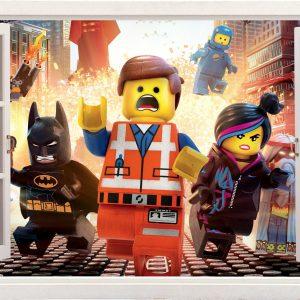"""3d """"Lego movie"""" vaikų kambario sienų lipdukai animacinis filmas """"Lego movie"""" plakatai"""