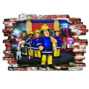 3D Sienų lipdukai Fireman