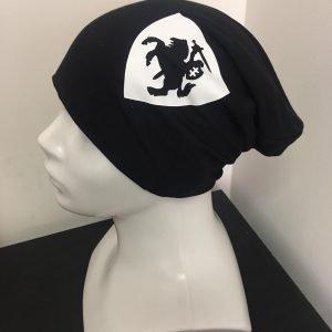 Juoda unisex (vyriška, moteriška) kepurė Lietuvos herbas