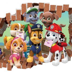 """""""Šunyčiai patruliai animacinis filmas"""" 3D Paw patrol vaikų kambario sienų lipdukai"""