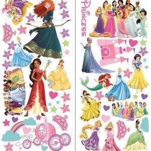 """""""Disney princess"""" 3D vaikų kambario sienų lipdukai"""