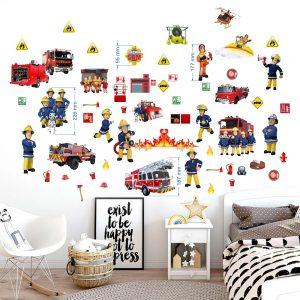 """""""Gaisrininko lipdukai"""" 3D vaikų kambario sienų lipdukai"""