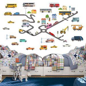 """""""Transportas"""" 3D vaikų kambario sienų lipdukai"""