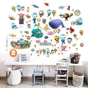 """Octonauts"" 3D vaikų kambario sienų lipdukai"