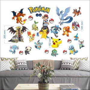 """""""Pokemon"""" 3D vaikų kambario sienų lipdukai"""