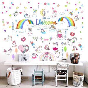"""""""Unicorn"""" 3D vienaragis vaikų kambario sienų lipdukai"""
