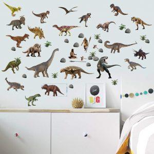 """Dinozauro lipdukai"" 3D vaikų kambario sienų lipdukai"