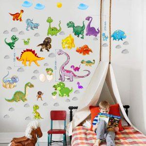 """""""Dinozaurai"""" 3D vaikų kambario sienų lipdukai"""