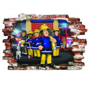 """""""Fireman Sam"""" 3D vaikų kambario sienų lipdukai"""