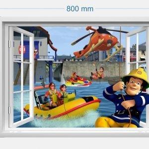 """""""Gaisrininkų komanda"""" 3D vaikų kambario sienų lipdukai"""