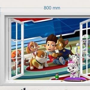 """""""Šunų patrulis"""" 3D vaikų kambario sienų lipdukai"""