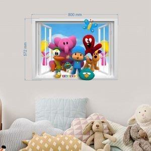 """""""Pocoyo langas"""" 3D vaikų kambario sienų lipdukai"""