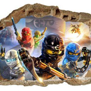 """Lego Ninjago"" 3D berniukų kambario sienų lipdukai"