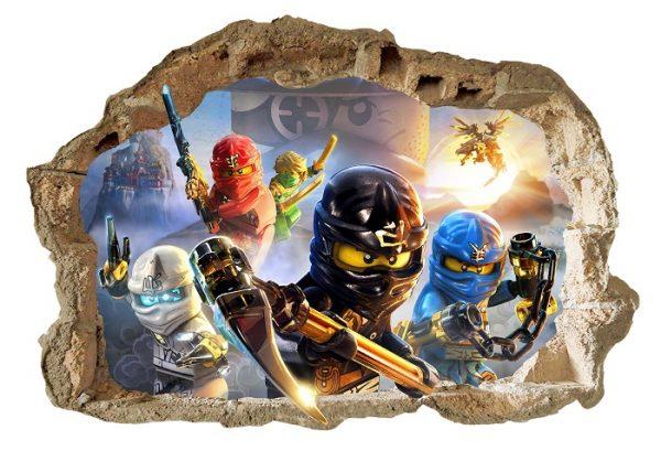 Lego ninjago wall_