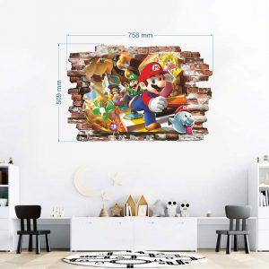 """""""Mario"""" 3D vaikų kambario sienų lipdukai"""