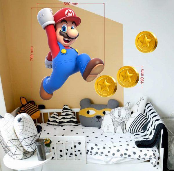 super mario coins wall