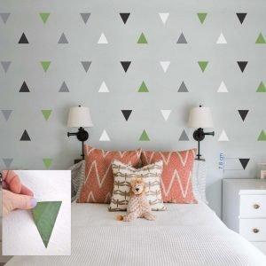 """""""Trikampiai"""" 3D vaikų kambario sienų lipdukai"""