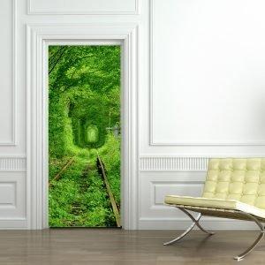 """""""Durų lipdukas miškas"""" 3D vaikų kambario sienų lipdukai"""