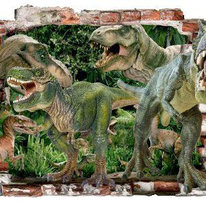 """""""Dinosaurs"""" 3D vaikų kambario sienų lipdukai"""