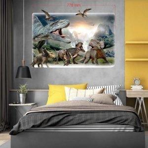"""""""Dinosaurs park"""" 3D vaikų kambario sienų lipdukai"""