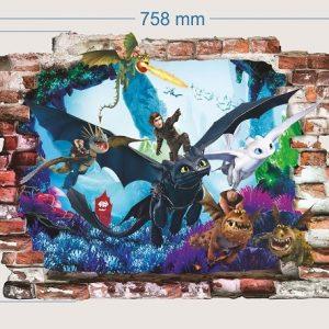 """""""Dragons"""" 3D vaikų kambario sienų lipdukai"""