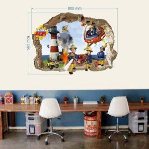 """""""Gaisrininkai Firemanai"""" 3D vaikų kambario sienų lipdukai"""