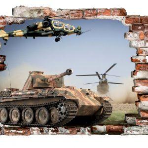 """""""Tankai"""" 3D vaikų kambario sienų lipdukai"""