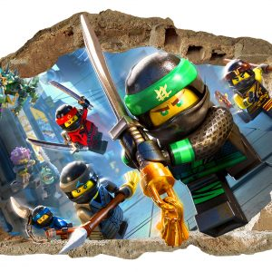 """Lego Ninjago"" vaikų kambario sienų lipdukai 3D"