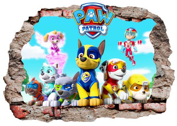 paw patrol wall