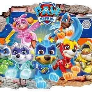 """""""Paw patrol šunyčiai"""" 3D vaikų kambario sienų lipdukai"""