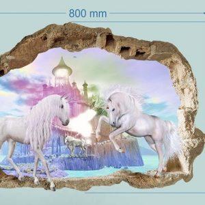"""""""Unicorn vienaragiai"""" 3D vaikų kambario sienų lipdukai"""