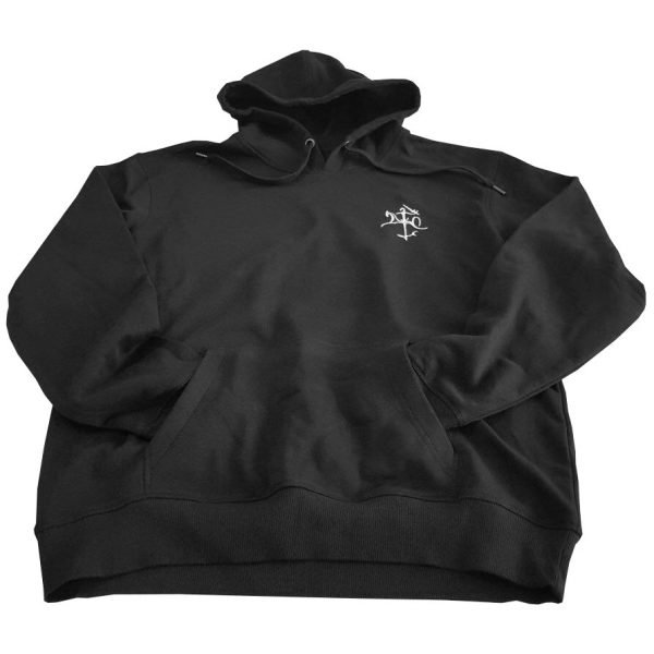 juodas megztinis vytis vyriskas su kapisonu