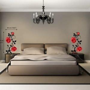 Rožė kambario sienų lipdukai