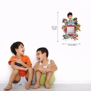 3D vaikų kambario sienų lipdukai aplink jungiklį, rozetę