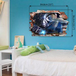 """""""UFO"""" 3D vaikų kambario sienų lipdukai"""