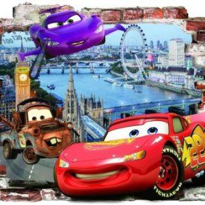 3D Sienų lipdukai Cars berniukams