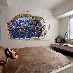 FORTNITE 3D vaikų kambario sienų lipdukai